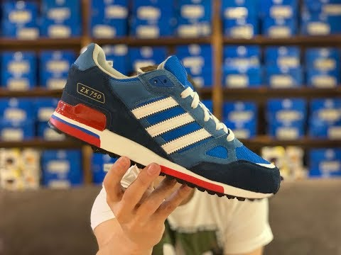 adidas ZX 750 shoes blue white red