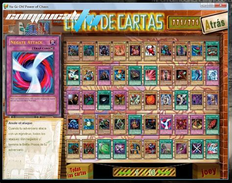 Yu-Gi-Oh! Power Of Chaos Joey The Passion Juego para PC en