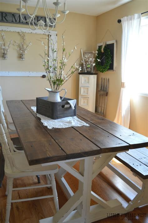 Farmhouse Dining Room & Painted Storage Cabinet - Little