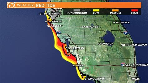 FWC releases new red tide map: Medium concentration