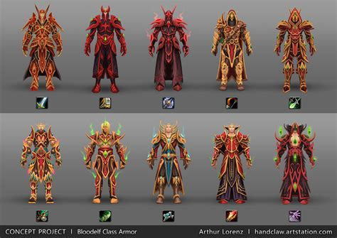 """Concepts: Unique """"Heritage Armor"""" for every race/class"""