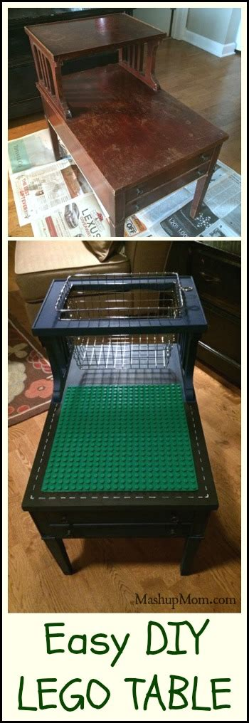 Easy DIY LEGO Table! (Or DUPLO! -- Just Line the Basket