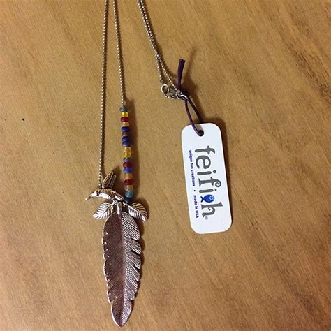 Feather Bead Necklace | American Eagle Foundation