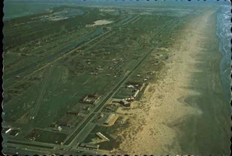 Aerial View of Town and Beach Ocean Shores, WA